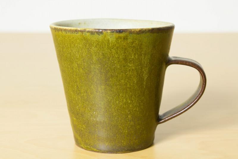 中村恵子|深緑釉マグカップ