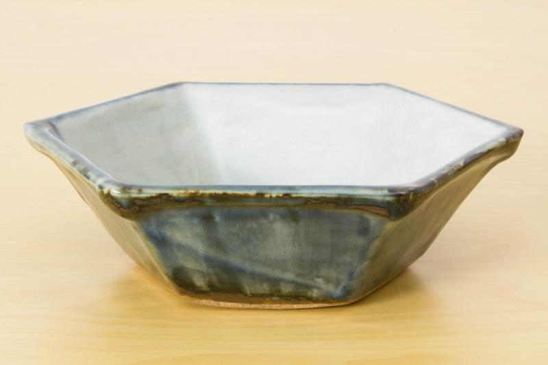袖師窯|六角鉢(大)