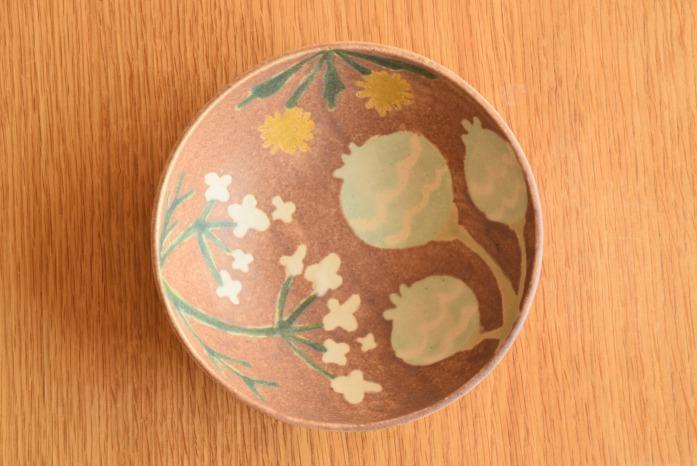 沖澤 真紀子|ピンクHana Bowl(S) 俯瞰・表