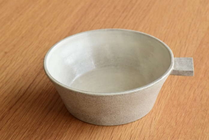 戸塚佳奈|白片手鉢(浅)