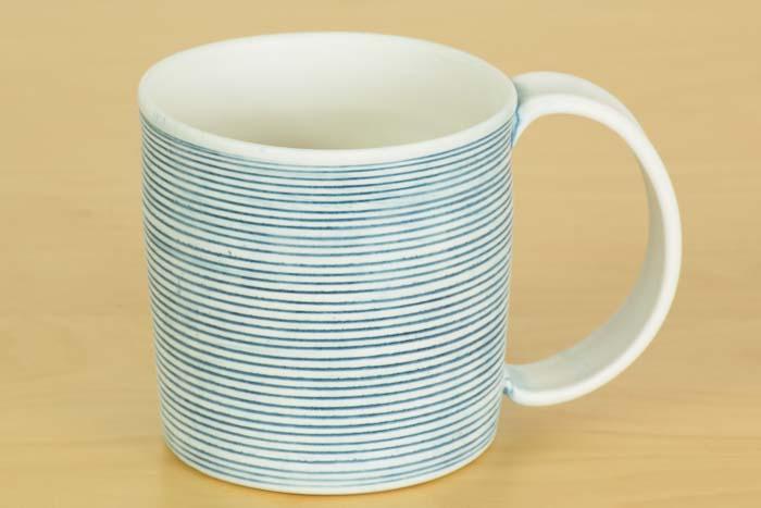 照井壮|青線刻マグカップ