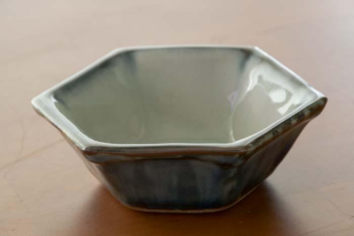 袖師窯|六角鉢(小)