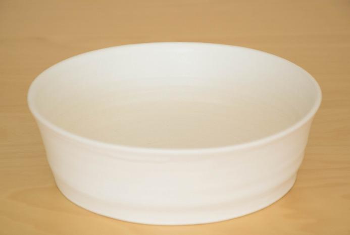 照井壮|乳白釉どら鉢(小)