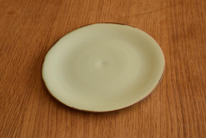 照井壮|フチサビ青白磁盤皿(6寸)