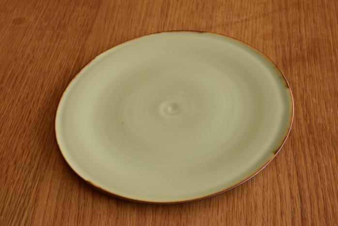 照井壮|フチサビ青白磁盤皿(7寸)