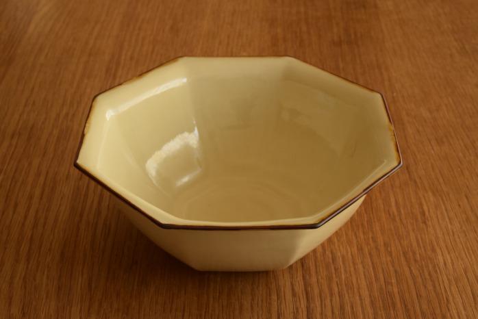 照井壮|プリン釉八角鉢