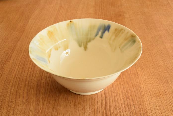 照井壮|流れ加彩釉リム鉢