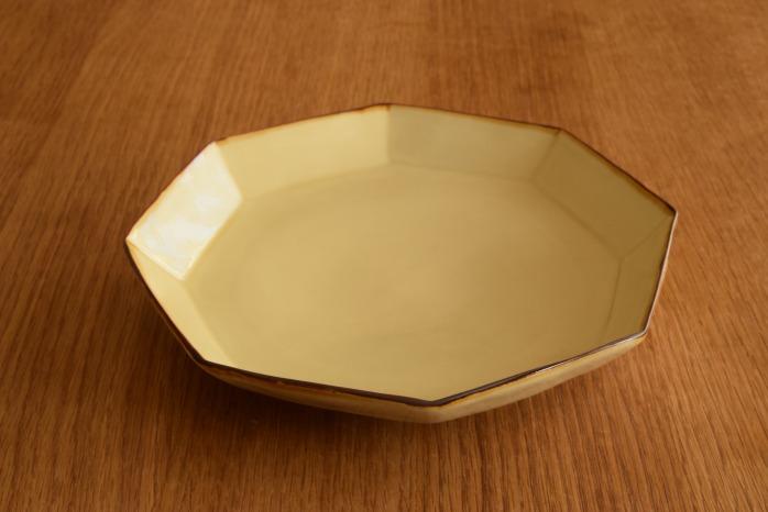 照井壮|プリン釉八角皿