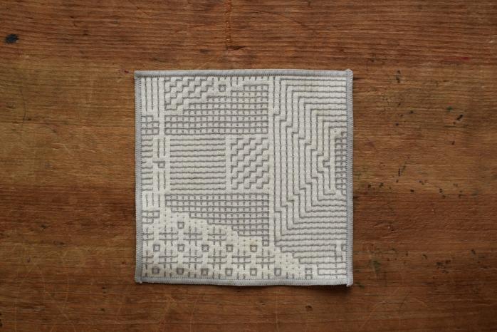 十布|刺子織のコースター(オフホワイト)