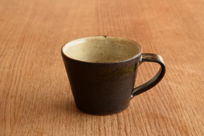 中村恵子|黒マグカップ(小)