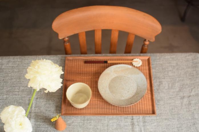 Semi-Aco 加賀雅之|彫り盆(オニグルミ)