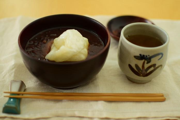 仁城義勝さんの入れ子椀でぜんざいを食べる