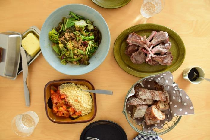 週末ごはん ラム肉のグリルとクスクス