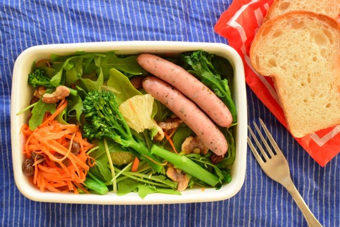 そうこのお弁当:2月25日(木)|サラダとパンの軽めのお弁当