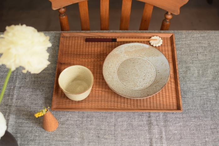 Semi-Aco加賀雅之さんの彫り盆(受注生産)