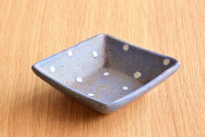 沖澤 真紀子|角豆皿(雪)
