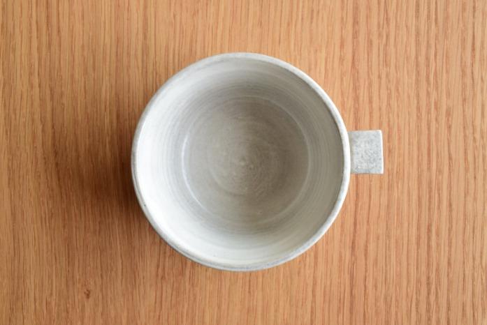 戸塚佳奈|白片手鉢(小) 俯瞰・表