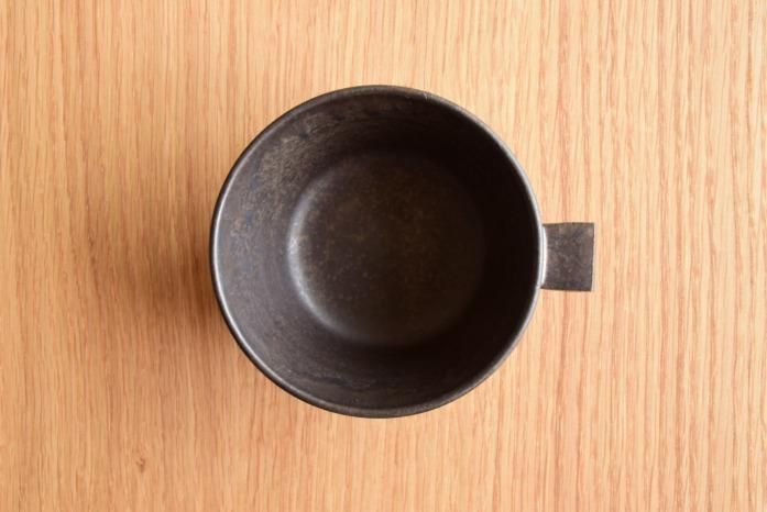 戸塚佳奈|黒片手鉢(小) 俯瞰・表