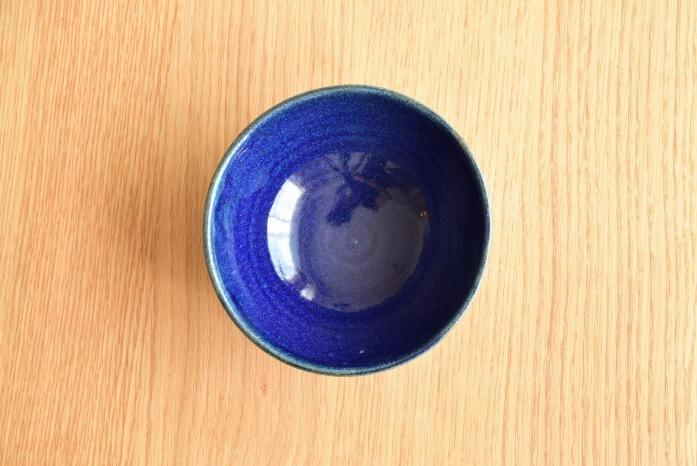 中村恵子|インディゴ飯椀(大) 俯瞰・表