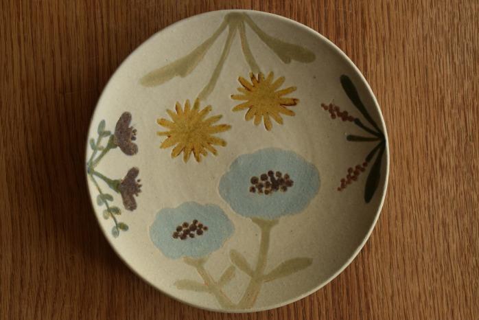 沖澤 真紀子|ホワイトHana皿(21cm)