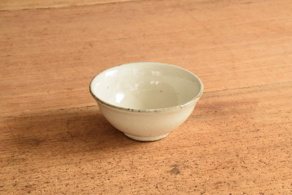 角掛政志|粉引飯碗 ごはんがきっとおいしくなる!かっこいい粉引のお茶椀