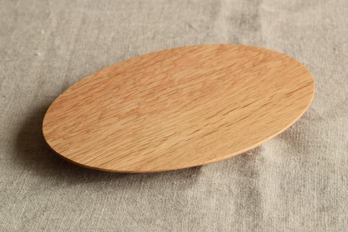 Semi-Aco 加賀雅之|楕円皿 正面 こんなのなかった!円盤のような木のお皿