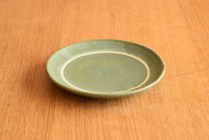 沖澤 真紀子|ブルーグリーンリング皿(15cm)