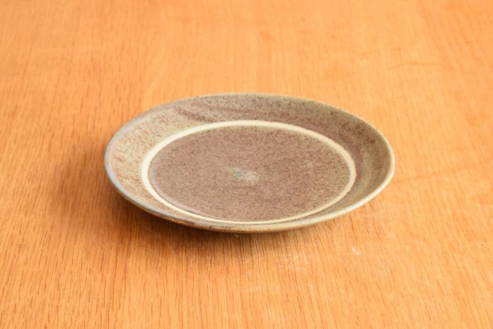沖澤 真紀子|パープルリング皿(15cm) 楽しいティーパーティーが頭に浮かびます