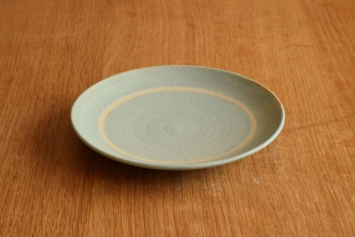 沖澤 真紀子|ブルーリング皿(15cm) 楽しいティーパーティーが頭に浮かびます