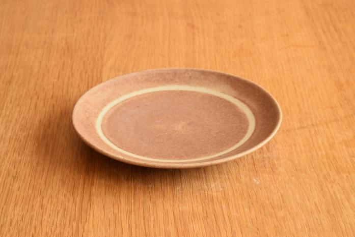 沖澤 真紀子|ピンクリング皿(15cm)