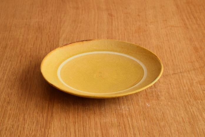 沖澤 真紀子|イエローリング皿(15cm) 楽しいティーパーティーが頭に浮かびます
