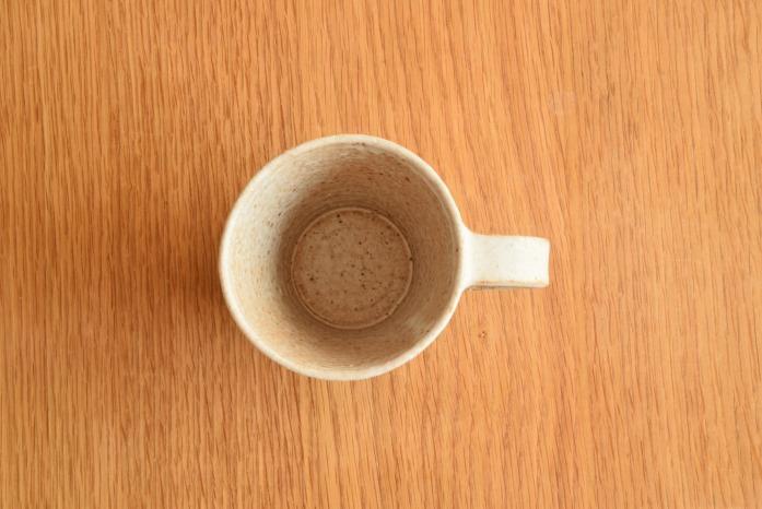石川若彦|粉引Sマグカップ 俯瞰・表