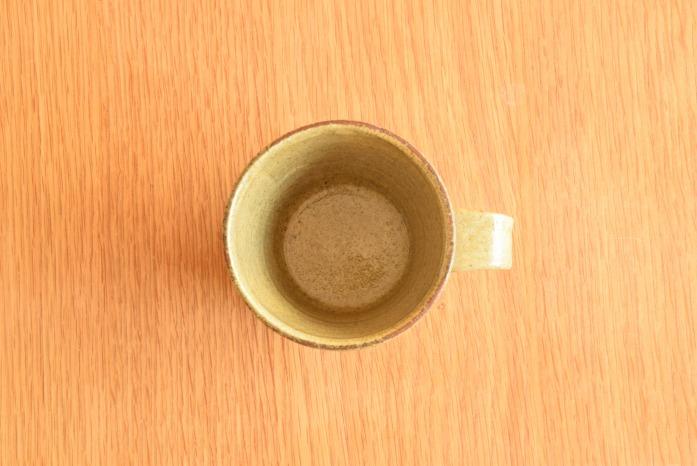 中村恵子|黄マグカップ(小)  俯瞰・表