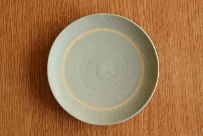 沖澤 真紀子|ブルーリング皿(15cm)俯瞰・表