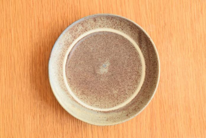 沖澤 真紀子|パープルリング皿(15cm) 俯瞰・表