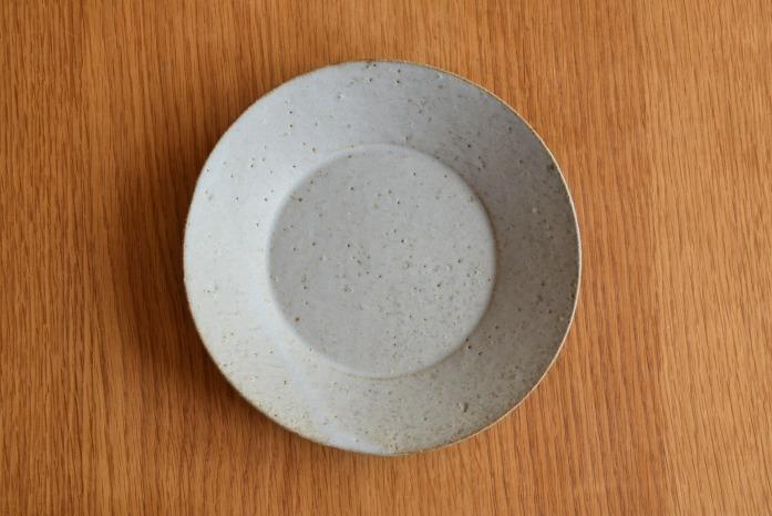 石川若彦|青リム皿(No.4) 俯瞰・表