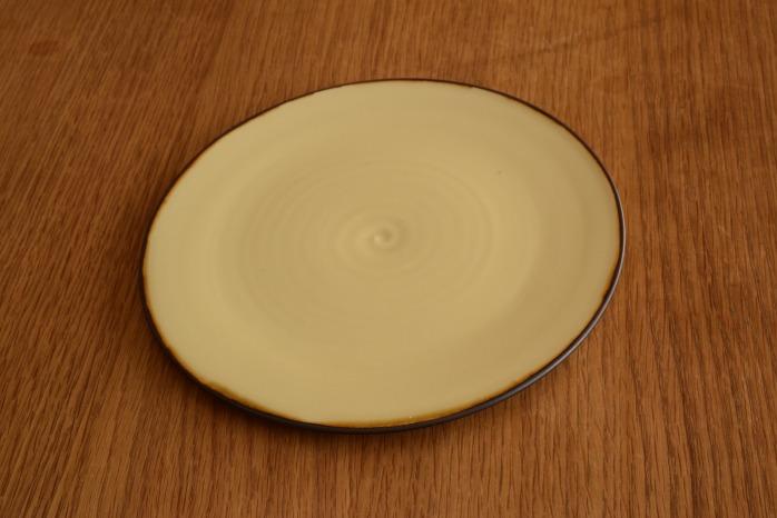 照井壮|プリン釉盤皿(6寸) 個展出展作品なので限定品です。