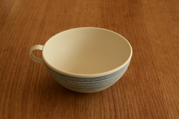 照井壮|青線刻スープ碗 照井さんといえばの青線刻