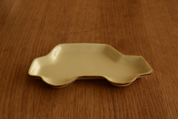 照井壮|プリン釉くるま皿 個展出展作品なので限定品です。