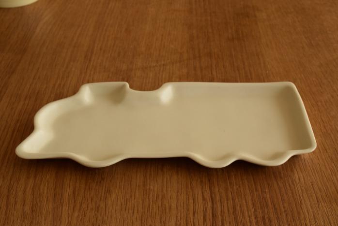 照井壮|きかんしゃ皿 個展出展作品なので限定品です。