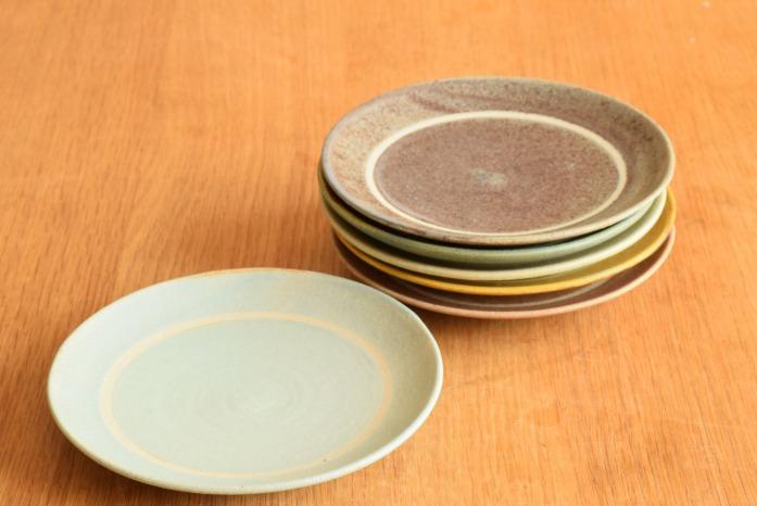 沖澤 真紀子|ブルーリング皿(15cm) 色違い