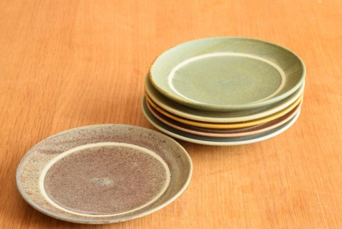 沖澤 真紀子|パープルリング皿(15cm) 色違い