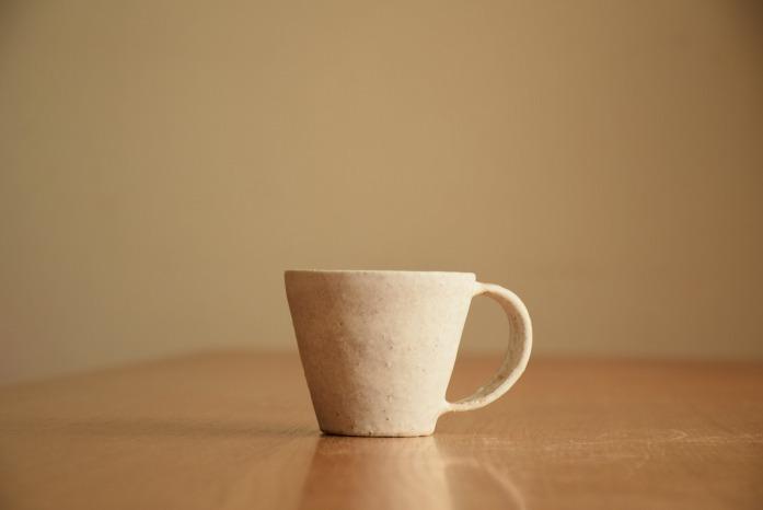 石川若彦|粉引Sマグカップ 水平