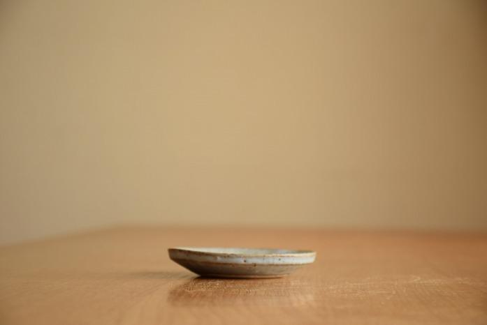 石川若彦|青リム皿(No.1) 水平