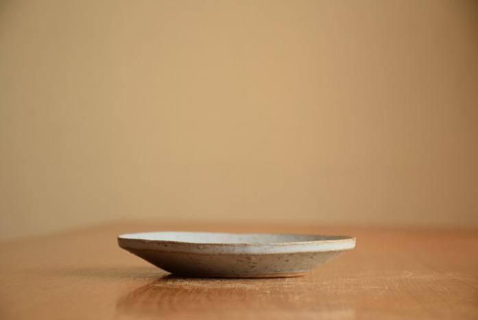 石川若彦|青リム皿(No.3) 水平