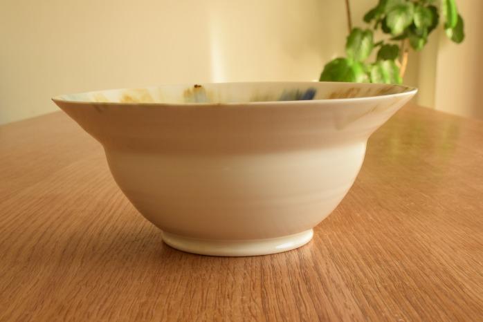 照井壮|流れ加彩釉リム鉢 水平