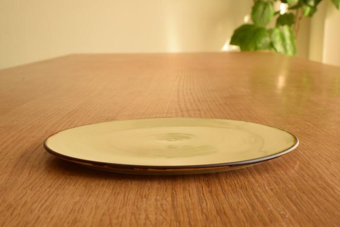 照井壮|プリン釉盤皿(6寸) 水平