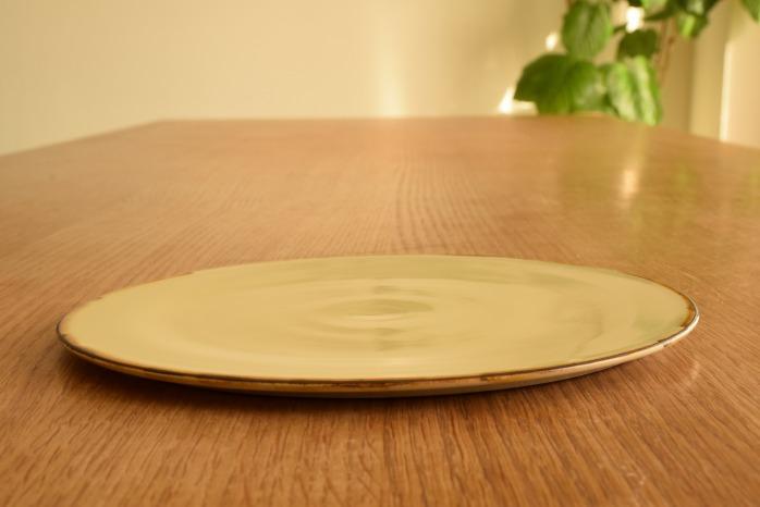 照井壮|プリン釉盤皿(7寸) 水平