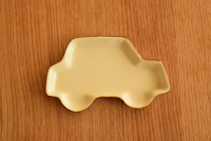 照井壮|プリン釉くるま皿 俯瞰・表