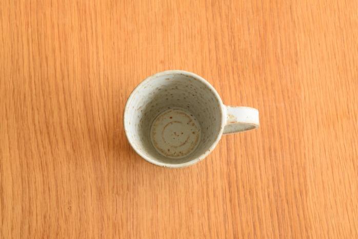 石川若彦|青マグカップ  俯瞰・表
